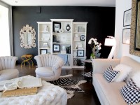 Try it: I painted my living room wall black  Jaimee Rose ...