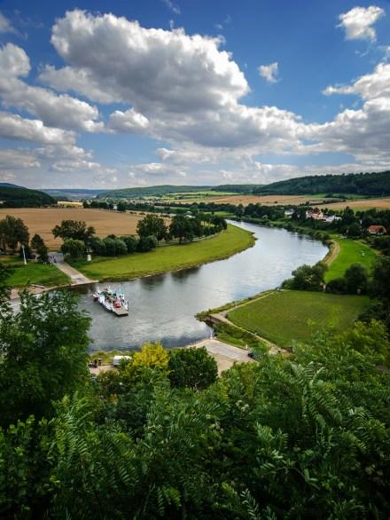 Vistas del río Weser desde el castillo