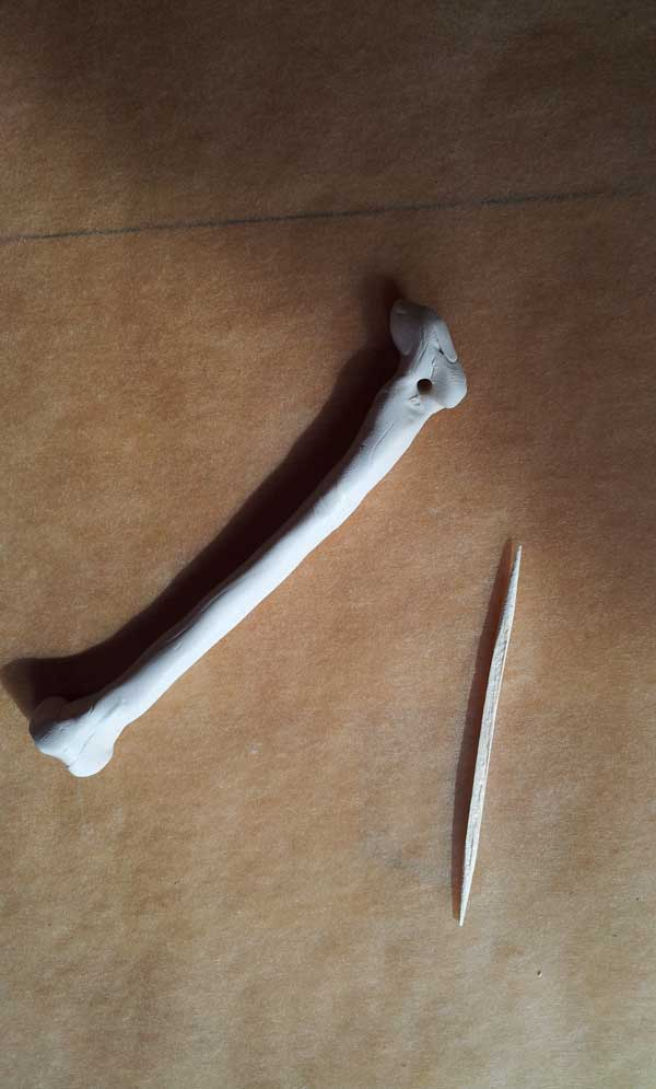 poke hole in bone with toothpick