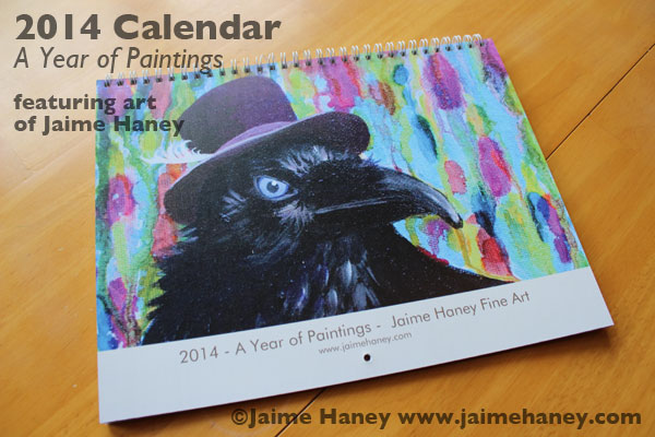 My 2014 Art Calendar with a different painting for each month available for purchase