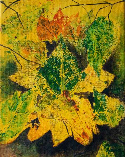 sold painting titled Autumn Bouquet *sold