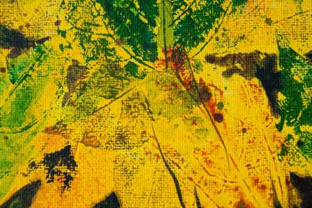 leaves falling on forest floor abstract