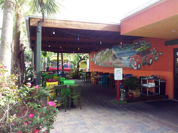 outdoor dining area at Clancy's Cantina Mexican Restaurant