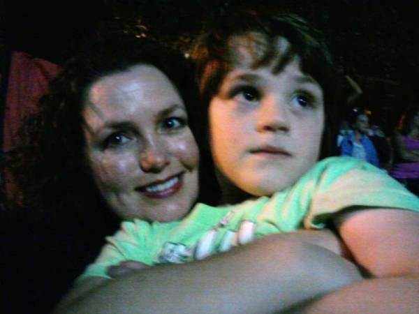 ASher and I watching the July 4th fireworks