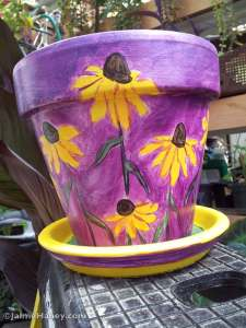 Black eyed Susans flower pot that sold