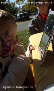 first face painting on sweet 3 year old