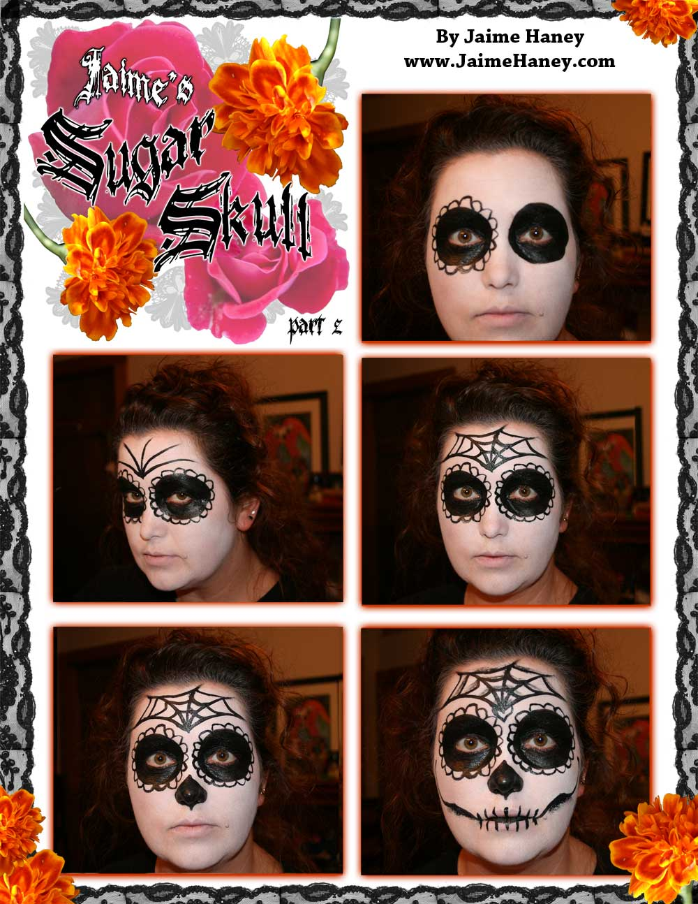Part 2 Sugar Skull makeup tutorial