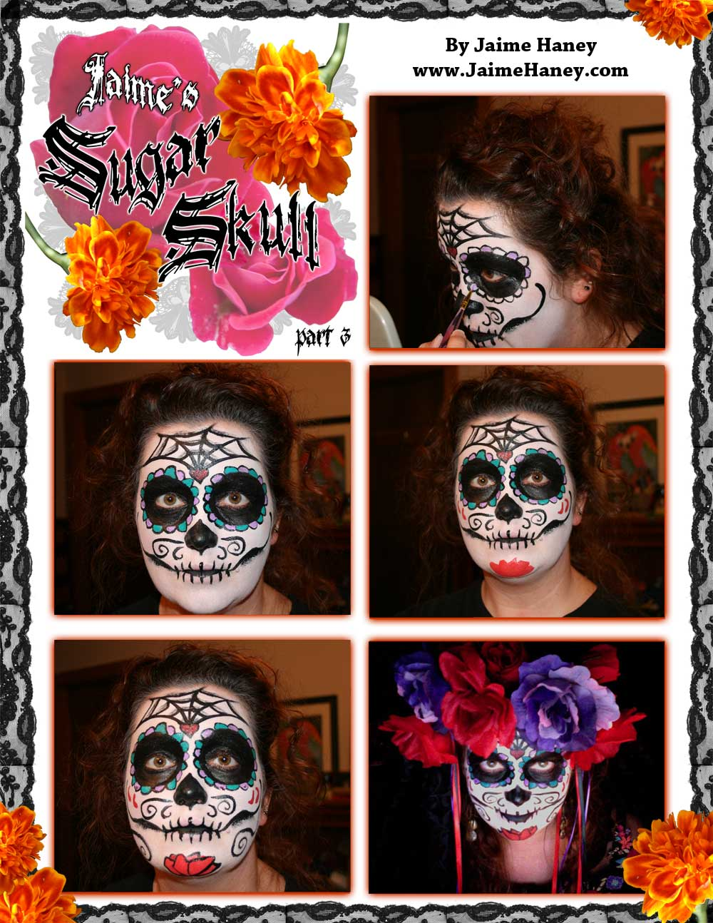 Part 3 Sugar Skull makeup tutorial