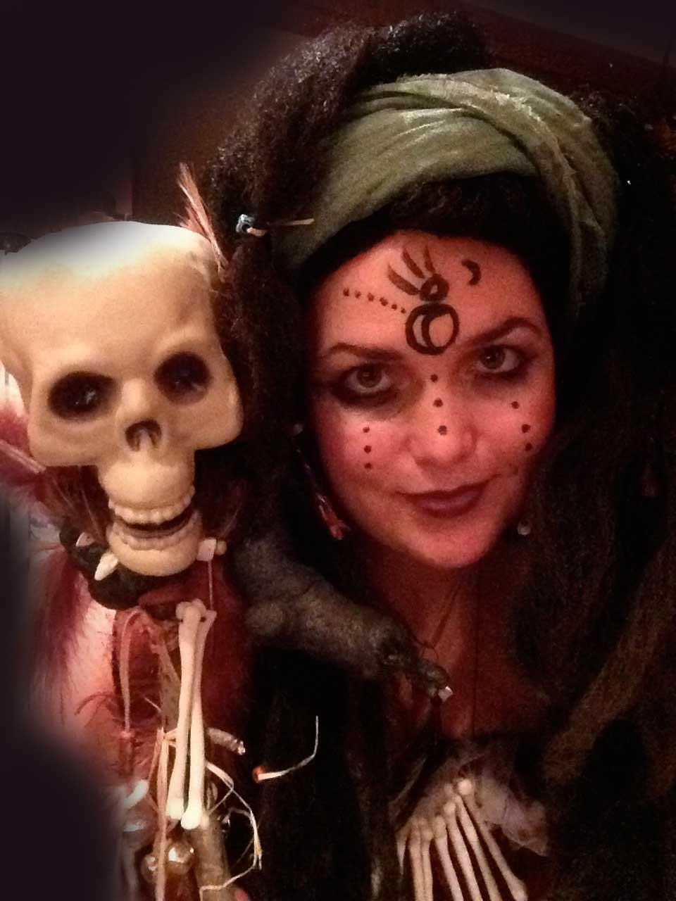 Voodoo Queen with Spirit Stick