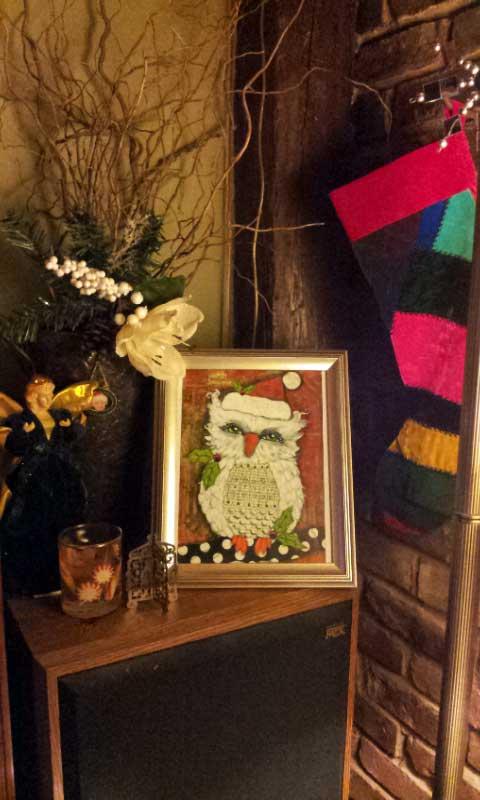 Christmas decorations vignette