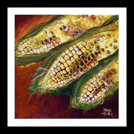 Smoky Maize fine art print shown in a simulated simple black frame