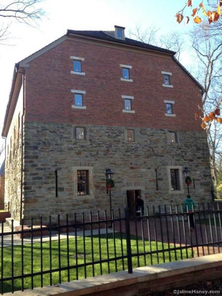 The Historic Rapp-Owen Granary in New Harmony, Indiana