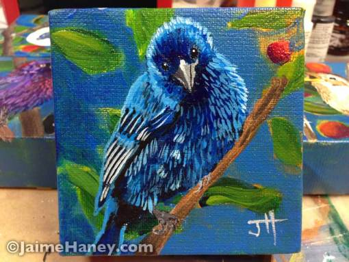 painted indigo bunting