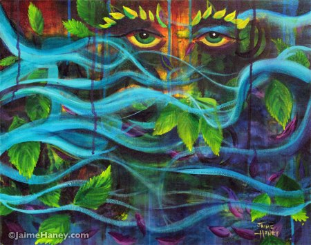 Mystical Mother Nature painting