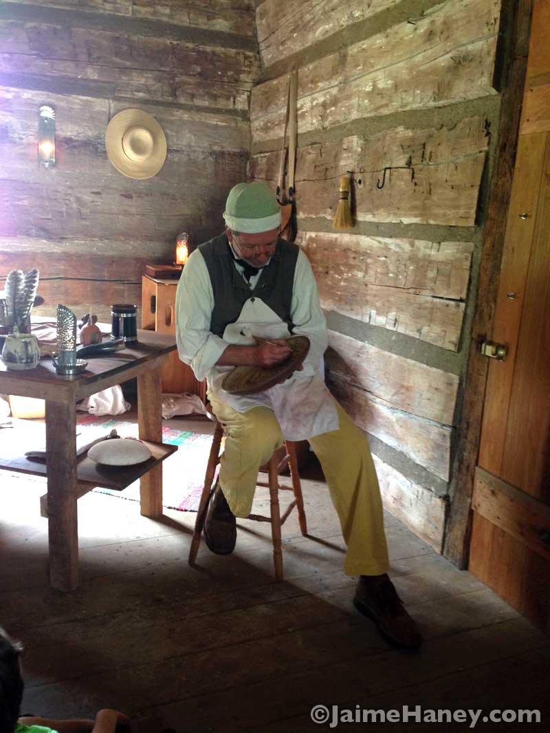 Tom Wintczak at Heritage Artisans Days in New Harmony Indiana 2016