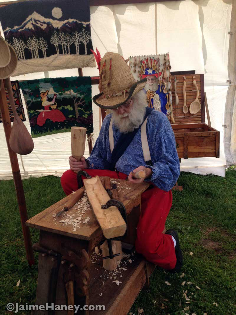 wood carver Larry Stock