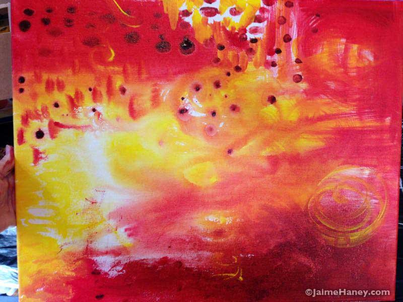 Beginning of Spirit Voices painting
