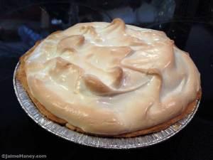 homemade chocolate pie with meringue