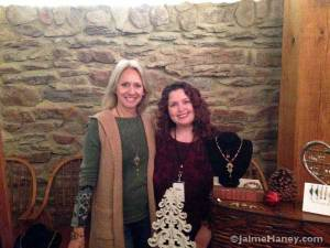 Becky Kiesel and Jaime Haney at Christmas in New Harmony