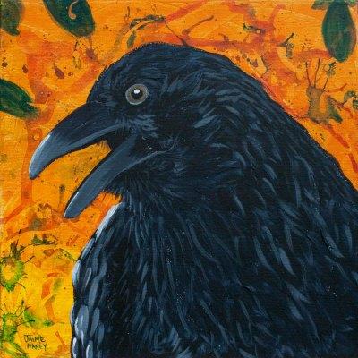 raven portrait