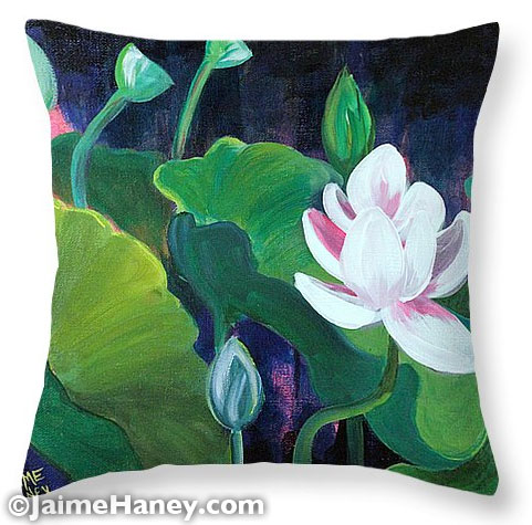 Lotus Garden 1 Pillow