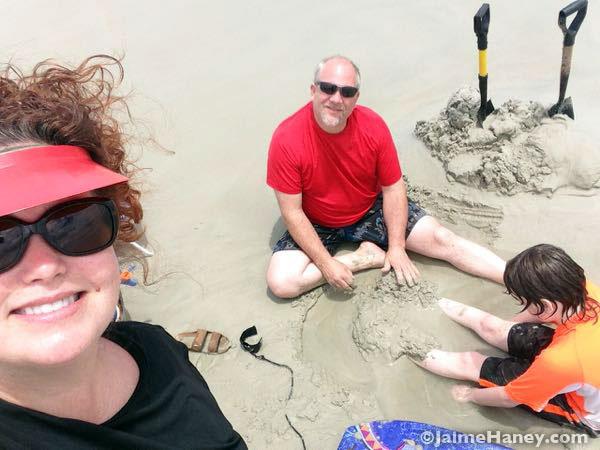 Beach selfies!