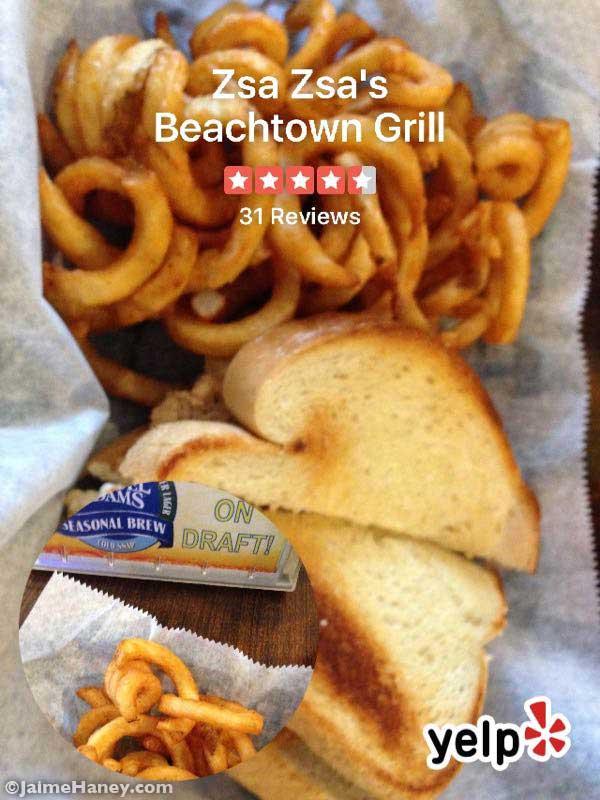 Tuna Melt sandwich from Zsa Zsa's Beachtown Grill