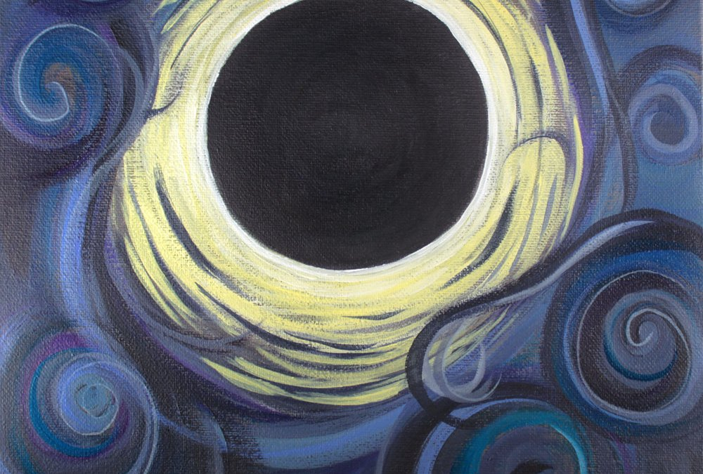 Luna Synchronicity solar eclipse painting