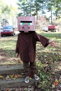 Minecraft Villager Halloween costume