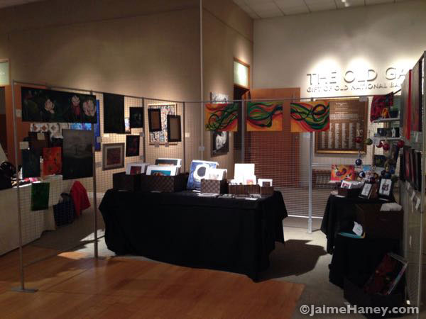 My art booth at the Winter Art & Craft Festival