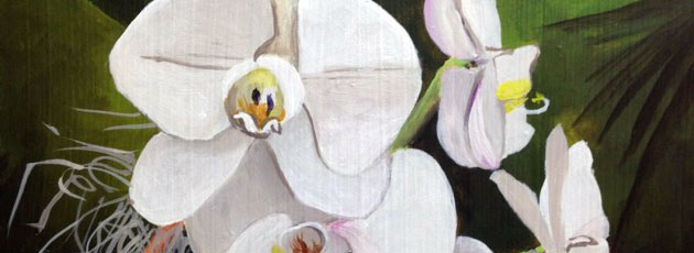 Day 22 White Orchid Painting