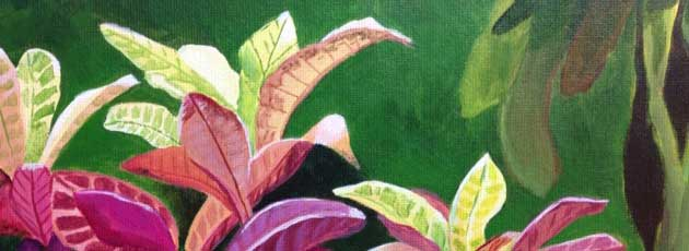 Day 29! Crotons crazy painting
