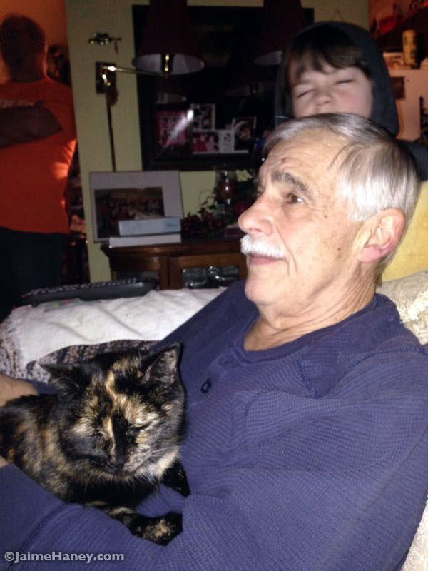 Dad with Cali