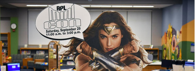 Mini Con tomorrow at Alexandrian Public Library