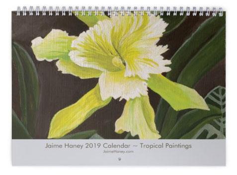 2019 Tropical Floral Art Calendar