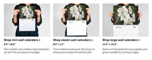 My tropical flowers paintings on 2019 art calendar