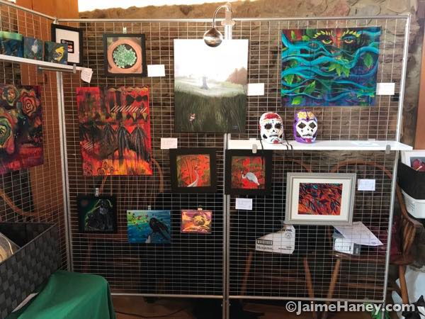 Artwork in my booth at Artisans Market