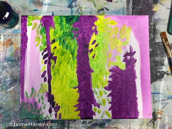 intuitive painting beginnings
