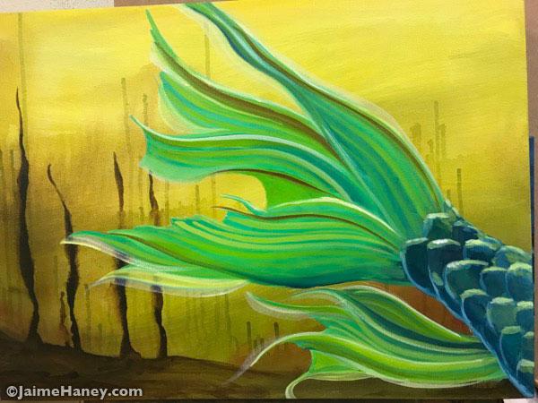 refining the pond mermaid tail