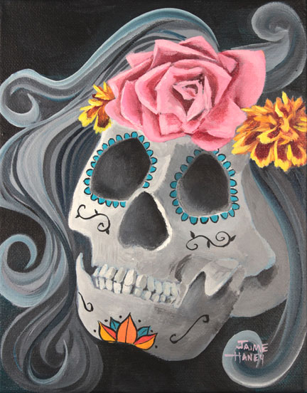 Sabrina Sugar Skull art print