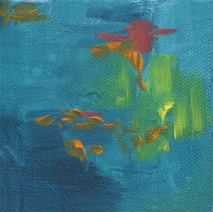 ocean colors canvas magnet