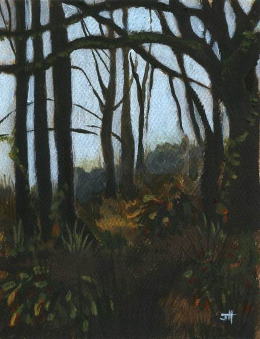 painting of a woodland landscape