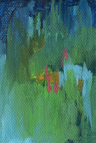 Night Garden abstract painting