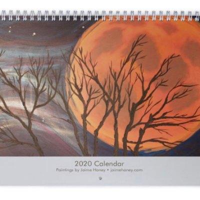 Wolf Moon 2020 Calendar front