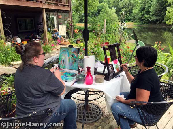 Painting outside in my garden