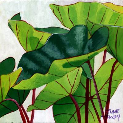 elephant ears plant art print
