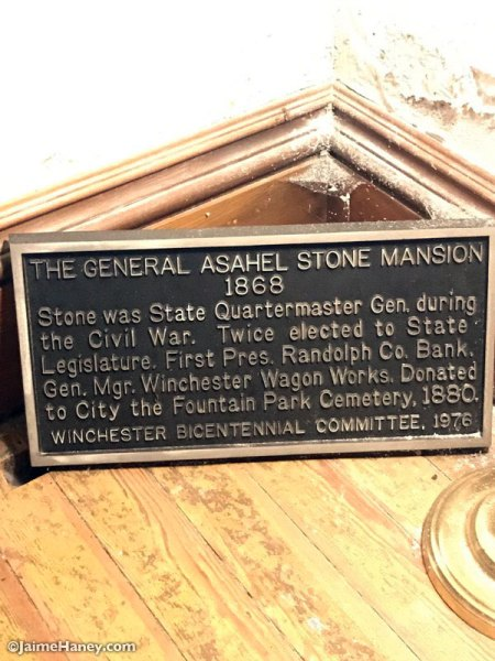 Historic home plaque for Stone Mansion