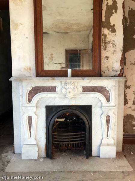 Marble Fireplace with inlay