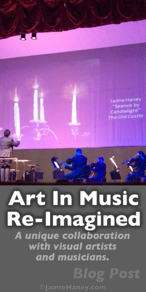 Concert exhibit with Evansville Philharmonic Orchestra and visual artists