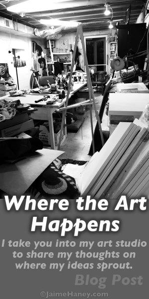 messy art studio